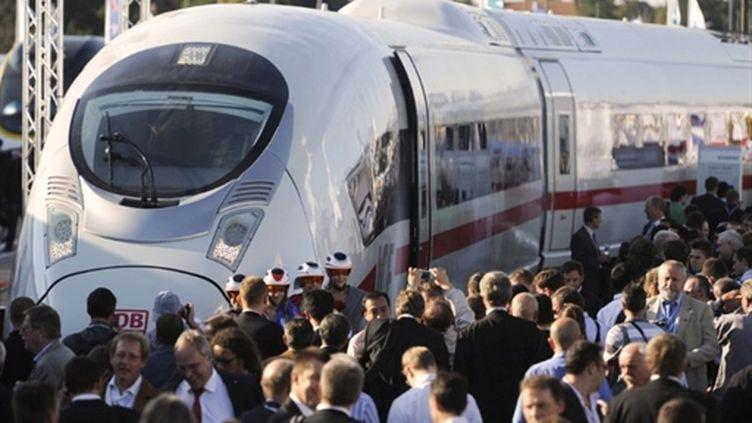 Le train à grande vitesse Velaro de Siemens, ici à Berlin, en septembre 2010. (AFP - Odd Andersen)