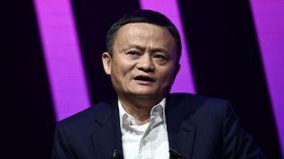 Jack Ma, le fondateur du site de commerce en ligne Alibaba, le 16 mai 2019 à Paris. (PHILIPPE LOPEZ / AFP)