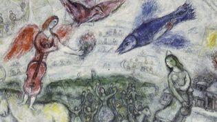 Les Gens du voyage, 1968 (détail du tableau)  (© Adagp, Paris 2015 – Chagall )