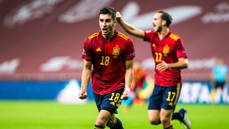Ferran Torres a inscrit un triplé pour les Espagnols. (JOAQUIN CORCHERO / SPAIN DPPI)