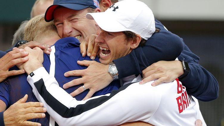La joie des Britanniques après leur victoire face à la Serbie