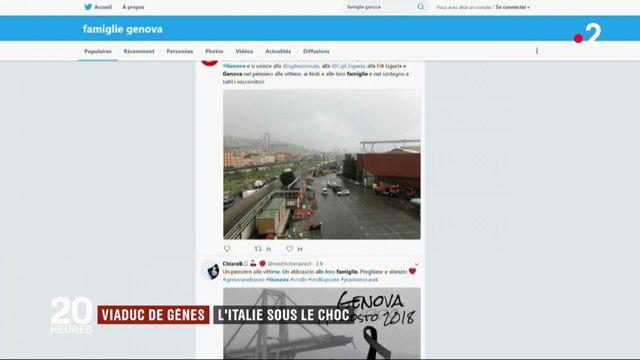 Effondrement d'un pont à Gênes : l'Italie sous le choc