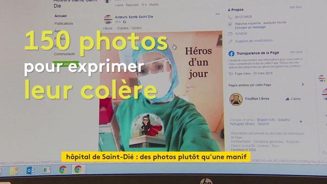 Manif sur les réseaux sociaux à l'hôpital de Saint-Dié-des-Vosges