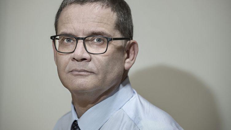 Jean-Philippe Hubsch, ancien grand maître du Grand Orient de France, en septembre 2018. (JOEL SAGET / AFP)