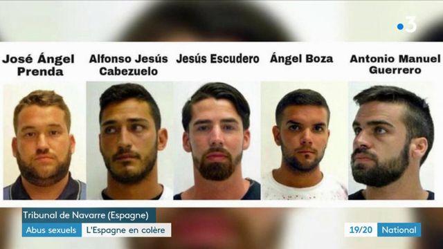 """Violeurs de """"la meute"""" condamnés pour """"abus sexuels"""" : l'Espagne en colère après le verdict"""