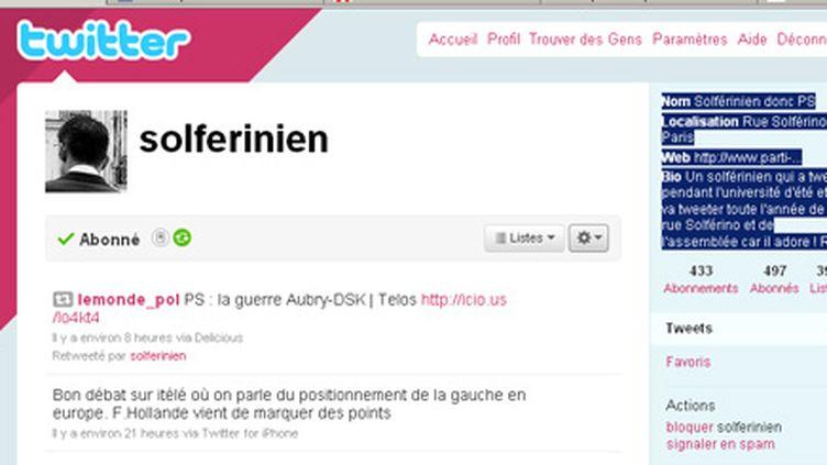 "Le compte twitter ""solferinien"""