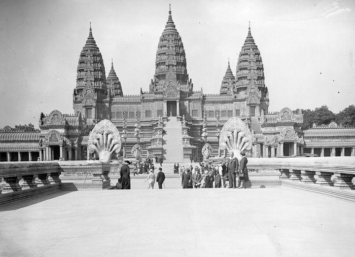 Le temple d'Angkor en 1931  (LEEMAGE / AFP)