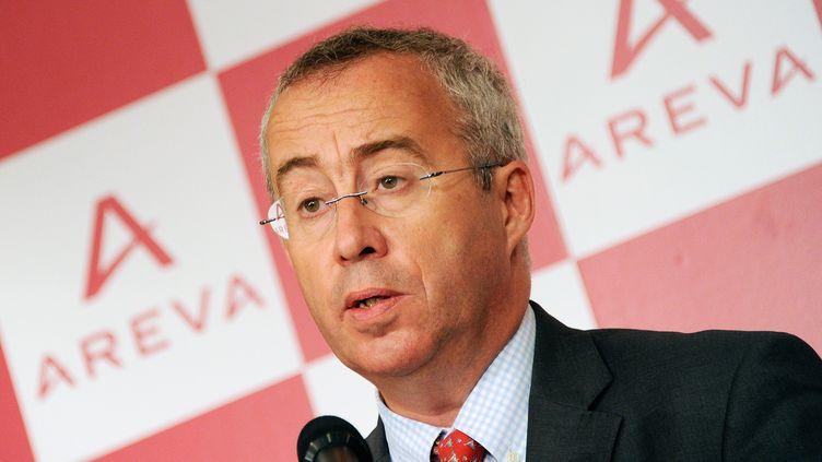Le nouveau président d'Areva, Luc Oursel, le 8 septembre 2011 à Tokyo, au Japon. (TORU YAMANAKA / AFP)