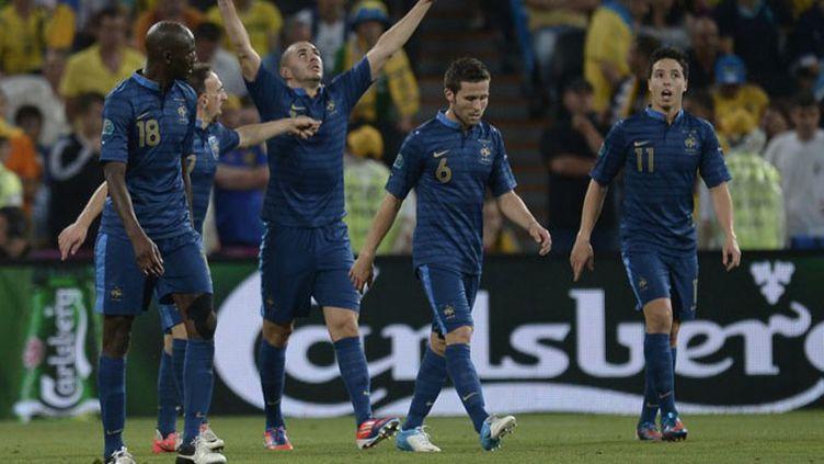 La joie des Français après le but de Yohan Cabaye