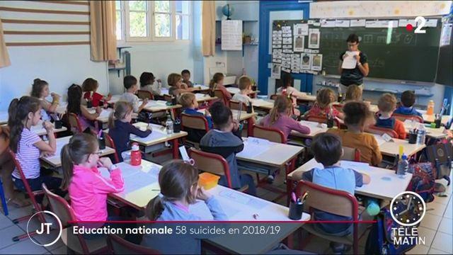Éducation nationale : 58 agents se sont suicidés sur l'année scolaire 2018-2019