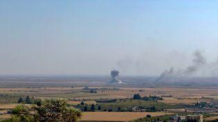 Les combats à la frontière turco-syrienne, dans le secteur deRas al-Aïn. (MATTHIEU MONDOLONI / RADIO FRANCE)