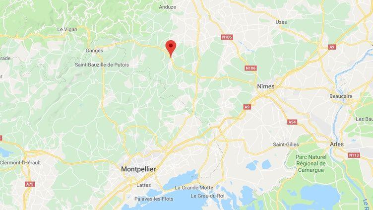 Carte de localisation de Quisac, dans le département du Gard. (RADIO FRANCE)