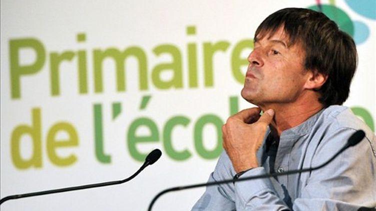 Nicolas Hulot, le probable grand absent des universités d'été d'Europe-Écologie-Les Verts. (PHILIPPE HUGUEN / AFP)