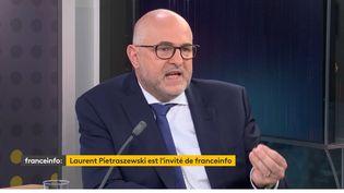 Laurent Pietraszewski, secrétaire d'État chargé des retraites et de la santé au travail, invité du 18H50 franceinfo, mercredi 3 mars 2021. (FRANCEINFO)