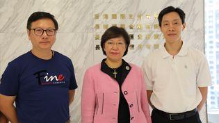 Choi Hak-Kin, Phyllis Kwong Ka-YinetPo Chun Chungà Hong Kong, le 17 juillet 2019. (ELISE LAMBERT/FRANCEINFO)