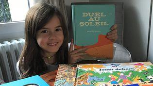 Perrine Dumont, 9 ans, membre du jury des Pépites 2018 pour la catégorie Livre illustré  (Laurence Houot - Culturebox)