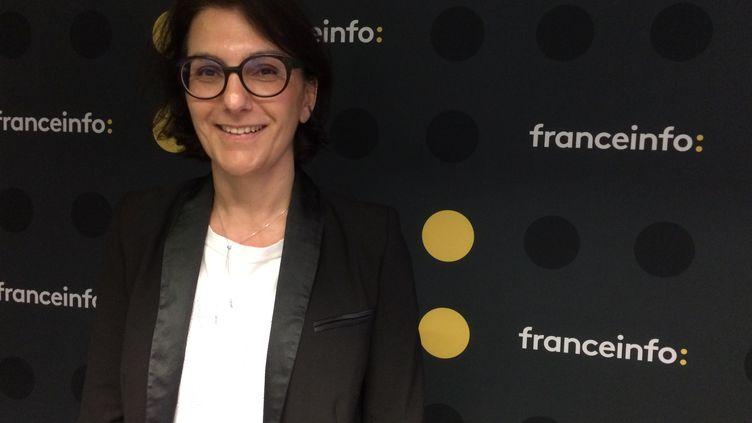 Nathalie Balla, coprésidente de La Redoute, le 19 avril 2018. (RADIO FRANCE / JEAN LEYMARIE)