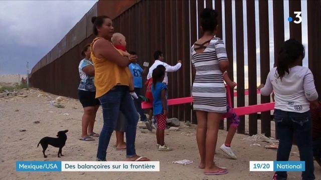 États-Unis : des balançoires à travers le mur de séparation avec le Mexique
