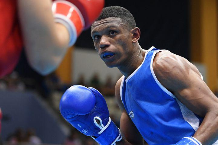 Le boxeur français Samuel Kistohurry lors des seconds Jeux européens à Minsk, en juin 2019. (PHILIPPE MILLEREAU / KMSP / AFP)