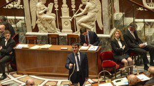 Le Premier ministre Manuel valls à l'Assemblée nationale, le 29 avril 2014, pour le vote du programme de stabilité budgétaire (ERIC FEFERBERG / AFP)