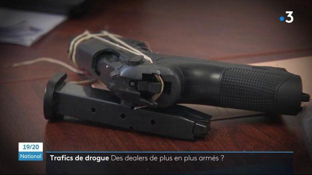 Trafics de drogue : de plus en plus d'armes aux mains des trafiquants