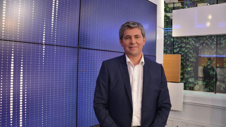 Gilles Platret,vice-président des Républicains, sur le plateau de franceinfo ((RADIO FRANCE))