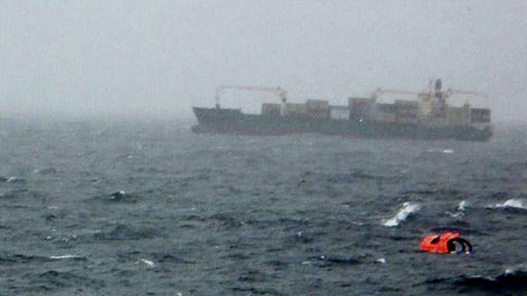 Le ferry Norman Atlantic victime d'un incendie au large de la Grèce, dimanche 28 décembre 2014. (SKAI TV / AFP)