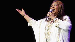 Aretha Franklin lors d'un concert à New York, le 17 février 2012. (JAMIE MCCARTHY / AFP)