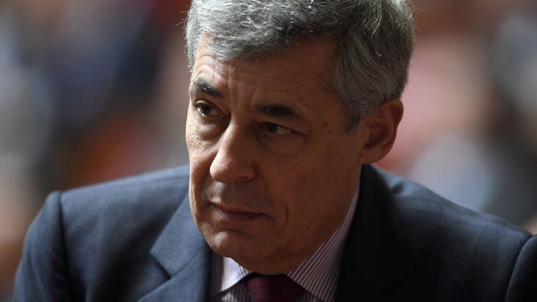 Henri Guaino à l'Assemblée nationale, le 7 février 2017. (LIONEL BONAVENTURE / AFP)
