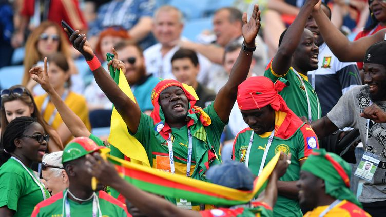 Les supporters camerounais (YURI CORTEZ / AFP)