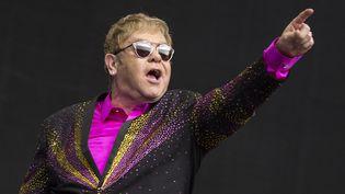 Elton John sur scène en Allemagne le 4 juin 2016.  (Michael Kremer / Geisler-Fotopress / AFP)