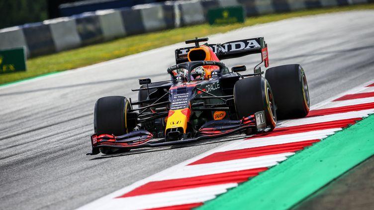 Max Verstappen (Red Bull) lors du Grand Prix de Styrie (Autriche), dimanche 27 juin 2021. (JOAO FILIPE / DPPI via AFP)