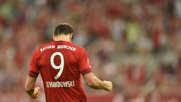 L'attaquant du Bayern Robert Lewandowski (PETER KNEFFEL / DPA)