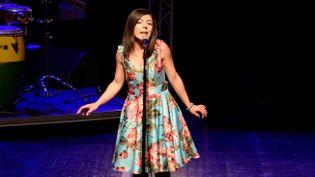 Farah Rigal lors d'un concert en hommage à la diva libanaise Fairouz (Labalme music)