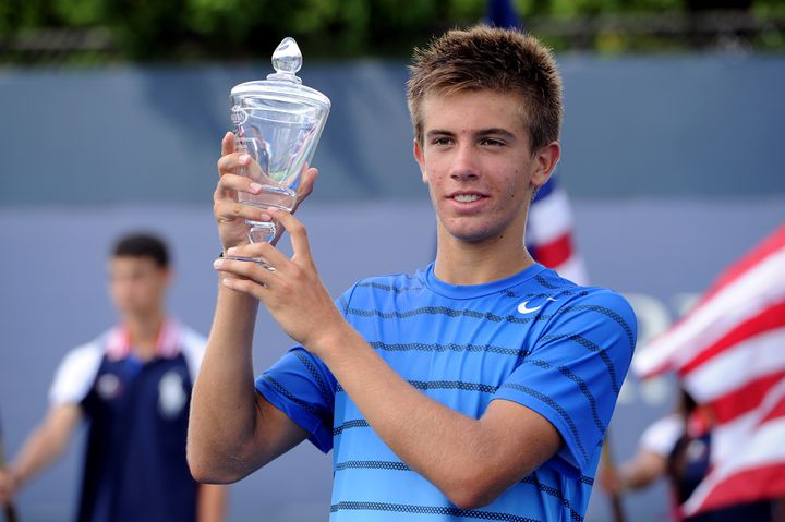 Borna Coric remporte l'US Open juniors face à Thanasi Kokkinakis (2013). (MADDIE MEYER / GETTY IMAGES NORTH AMERICA)