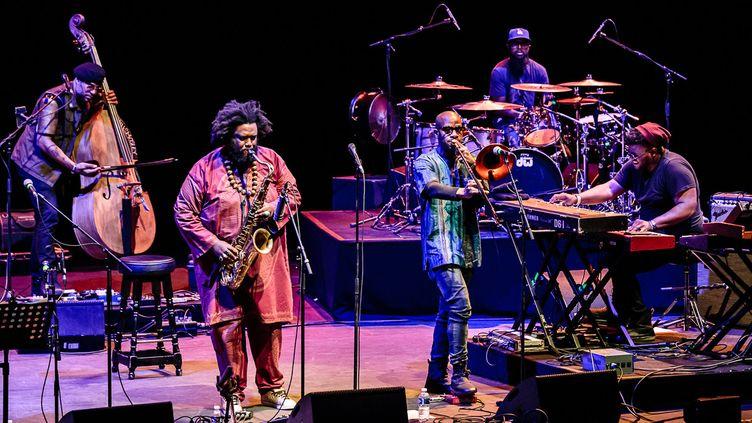 Kamasi Washington à l'auditorium de Lyon le 8 mai 2018 pour Nuits Sonores  (Brice Robert)