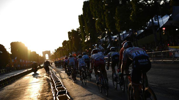 L'arrivée du Tour de France 2019 à Paris, le 28 juillet. (JEFF PACHOUD / AFP)