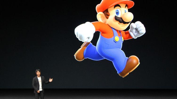 Super Mario, ici présenté le 7 septembre 2016 à San Francisco, arrive sur Apple (MAXPPP)