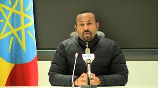 Abiy Ahmed, le Premier ministre éthiopien, le 4 novembre 2020. (- / ETHIOPIAN PUBLIC BROADCASTER (EB)