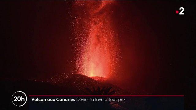Éruption volcanique aux Canaries : les pompiers tentent de dévier le cours de la lave