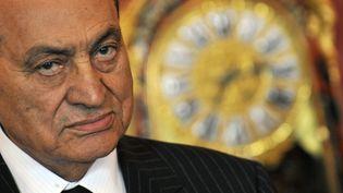 Hosni Moubarak. Photo prise le 13 octobre 2009 à Budapest (Hongrie). (ATTILA KISBENEDEK / AFP)