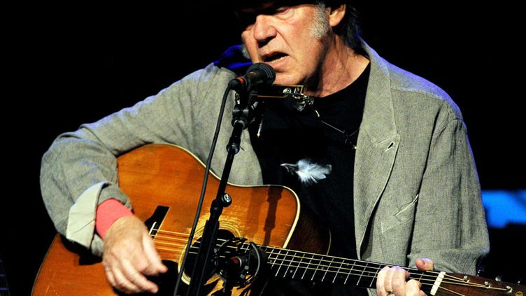 Neil Young à Los Angeles (29 mars 2014)  (Kevin Winter / Getty Images / AFP)