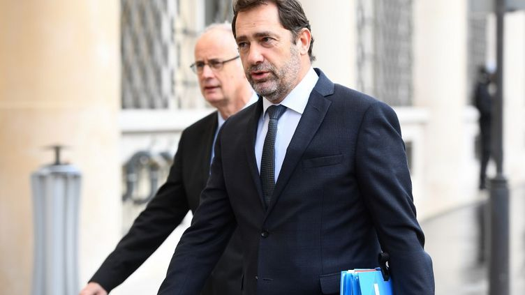 Christophe Castaner, le 12 mars 2020, à Paris. (CHRISTOPHE ARCHAMBAULT / AFP)