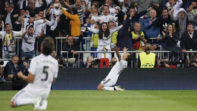 Javier Hernandez a libéré le Real en toute fin de match (? REUTERS STAFF / REUTERS / X01095)