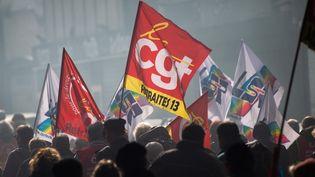 Une manifestation contre la réforme des retraites à Marseille, le 6 février 2020. (CLEMENT MAHOUDEAU / AFP)