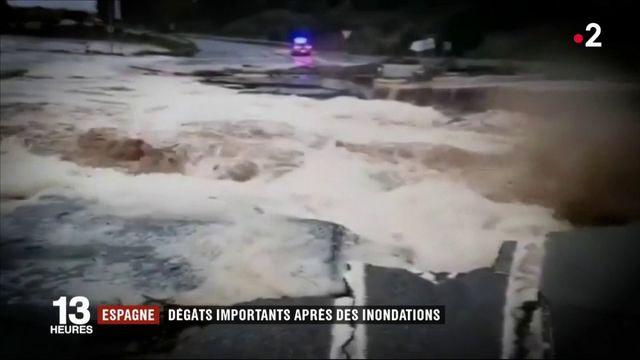 Espagne : la crue d'une rivière a tout emporté sur son passage