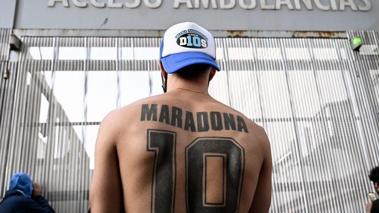 Diego Maradona, l'idôle du peuple argentin (JUAN MABROMATA / AFP)