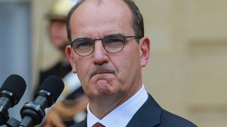 Le nouveau Premier ministre, Jean Castex, dans la cour de Matignon (Paris), le 3 juillet 2020. (LUDOVIC MARIN / AFP)