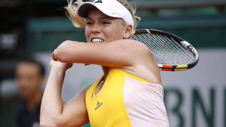 Caroline Wozniacki lors de Roland-Garros 2015. (KENZO TRIBOUILLARD / AFP)