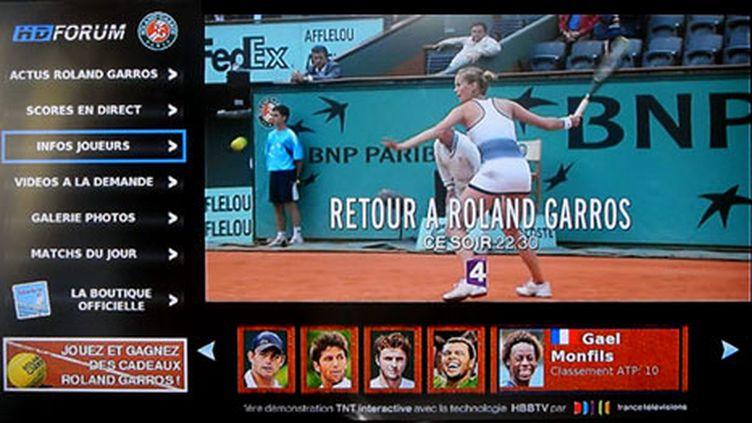 Pour Roland-Garros, premiers essais de télé hybride connectée au Web